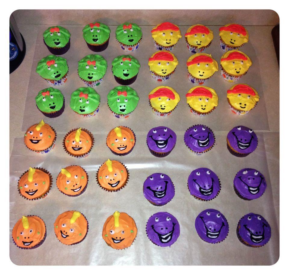 birthday cupcakes barney baby bop b j riff yummies