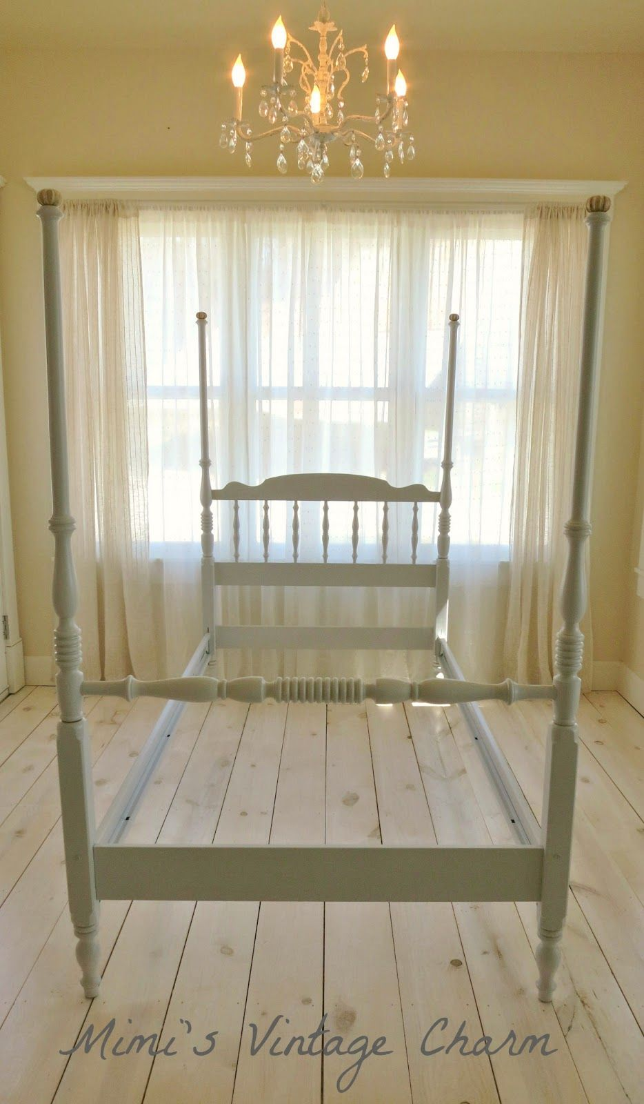 Before & After Vintage Ethan Allen Twin Bed Frame