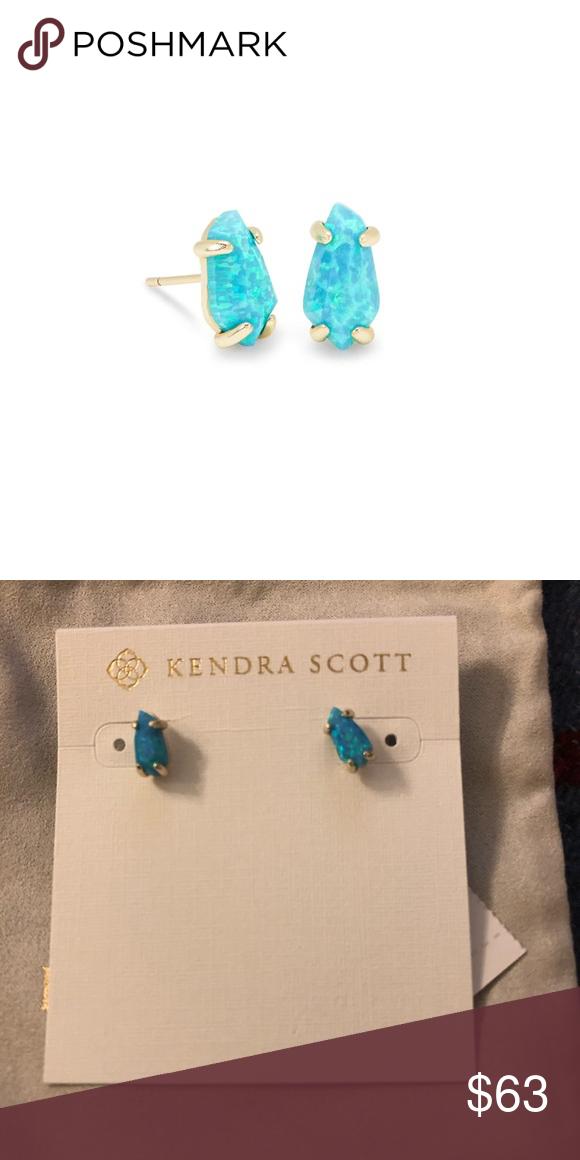 6c5962676 Kendra Scott opal studs Kendra Scott Jillian Earrings in turquoise Kyocera  opal. NWT. Kendra Scott Jewelry Earrings