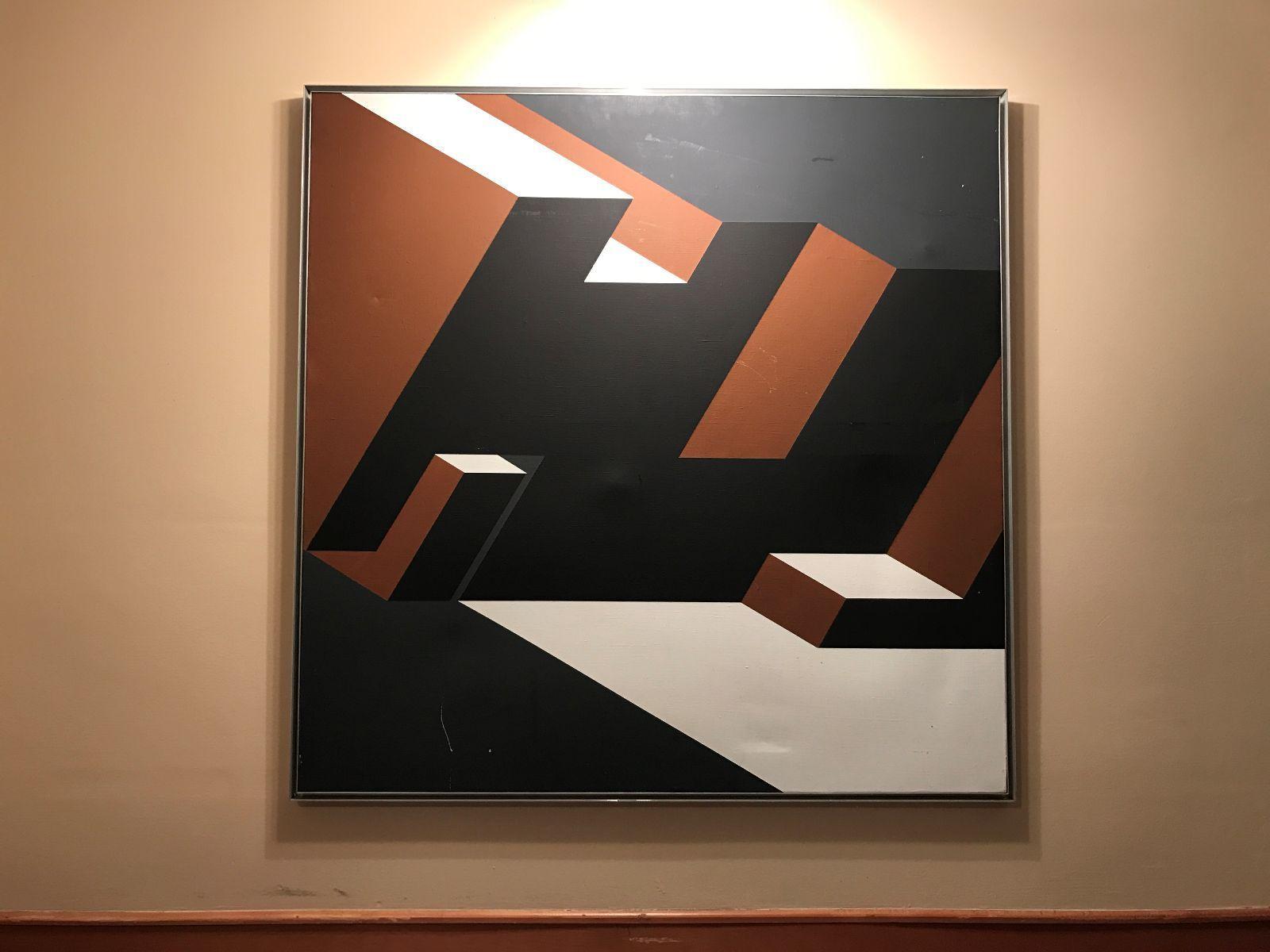 Rinaldo Paluzzi Op Art Painting