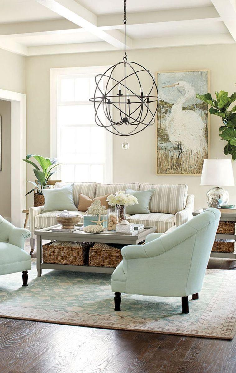 Cozy coastal living room decorating ideas (67)   Coastal living ...