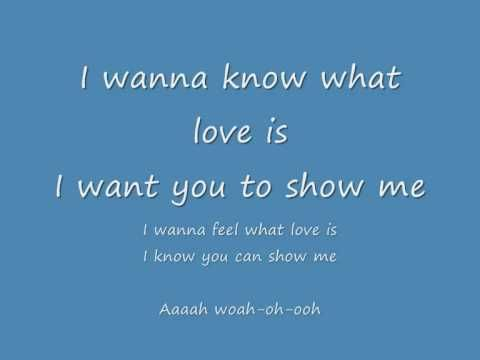 I Want To Know What Love Is Foreigner Lyrics What Is Love