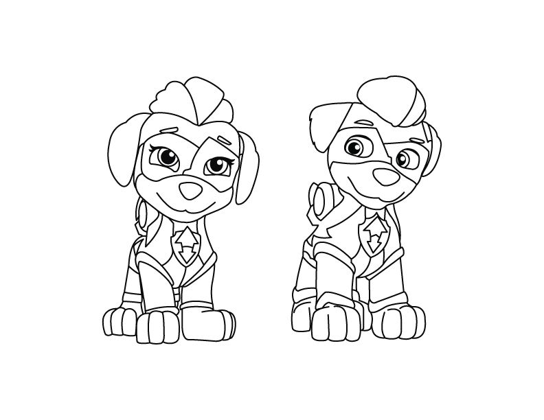Paw Patrol Mighty Pups Coloring Pages Printable Concept