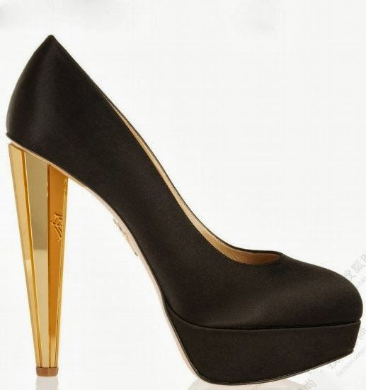 Golden High Heel Black Olympia Shoes Click for more