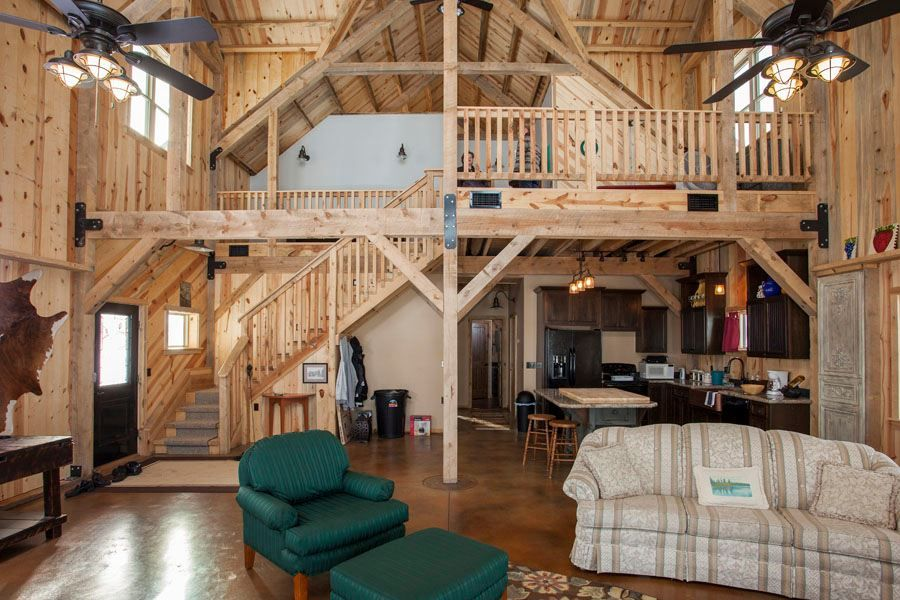 Sand Creek Post and Beam Barn as home | Timber Frame | Pinterest