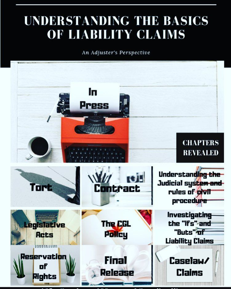My Book Titled Understanding The Basics Of Liability Claims An