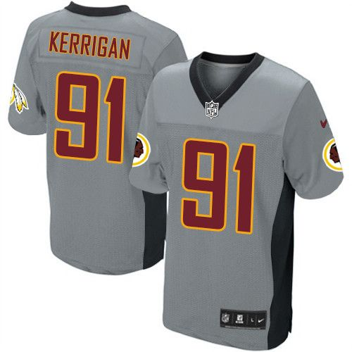 Men's Nike Washington Redskins #91 Ryan Kerrigan Elite Grey