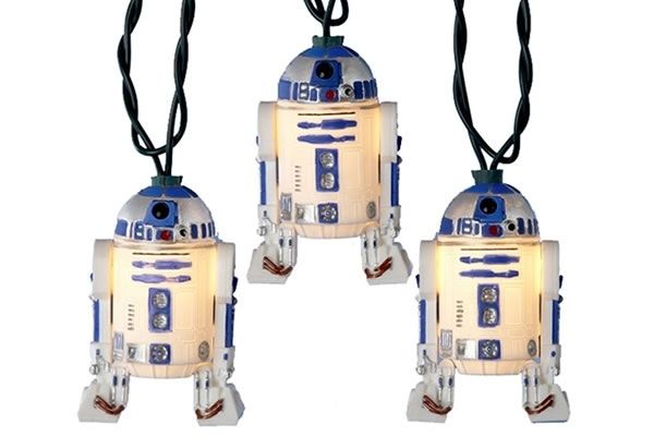 R2-D2 - Star Wars Christmas Light Set $31.95 They also have C3PO and Yoda lights.