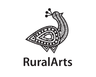 Logo Of Rural Arts Handicraft Logo Peacock Logo Tatoo Logo Black