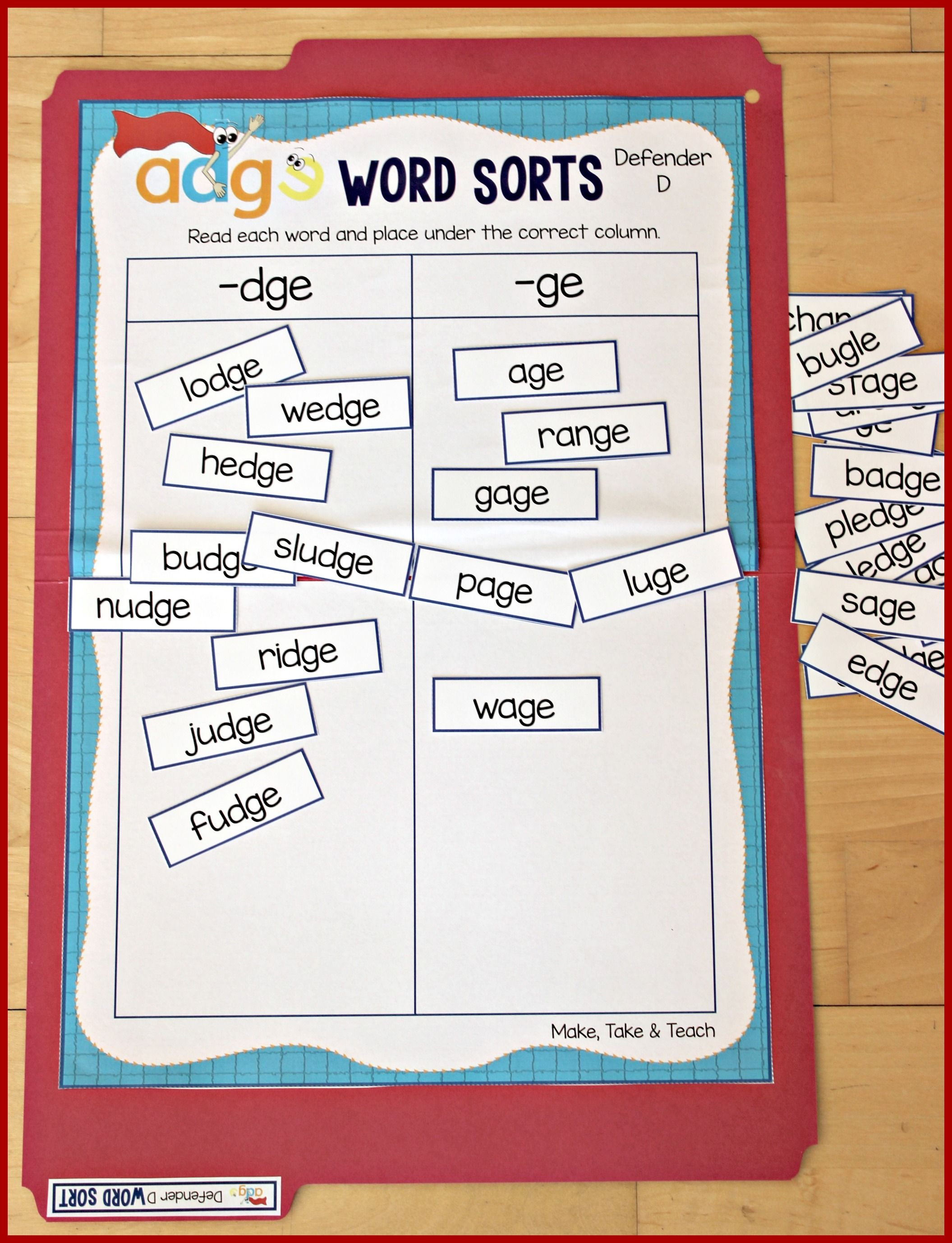 Teaching Defender D | Teaching Ideas/Teaching Resources | Word sorts