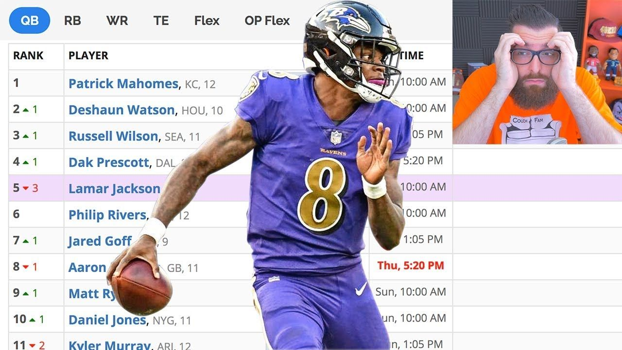 New Weekly Rankings Every Thursday Before Tnf Kickoff Here Are My