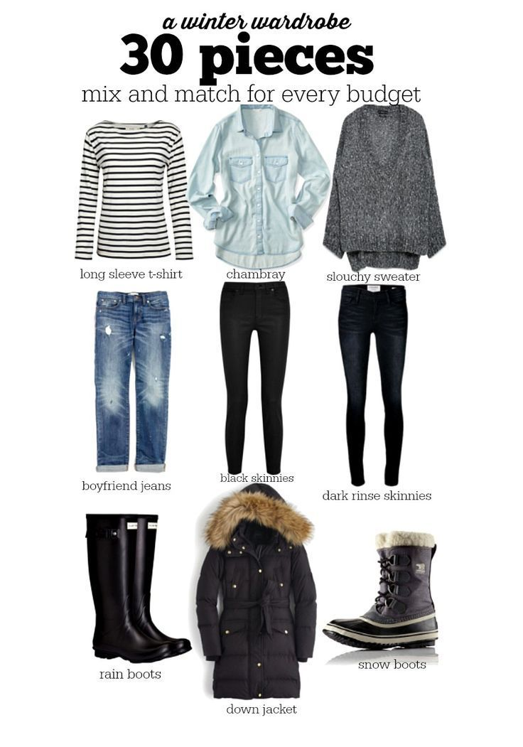 Winter Capsule Wardrobe For 2017 And 2018: 30 Pieces For Your Winter Wardrobe