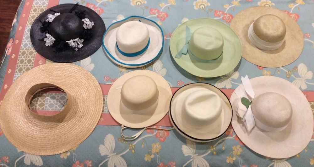 9e9656b85c220 Lot of EIGHT (8) VINTAGE STRAW Hats Tapoo