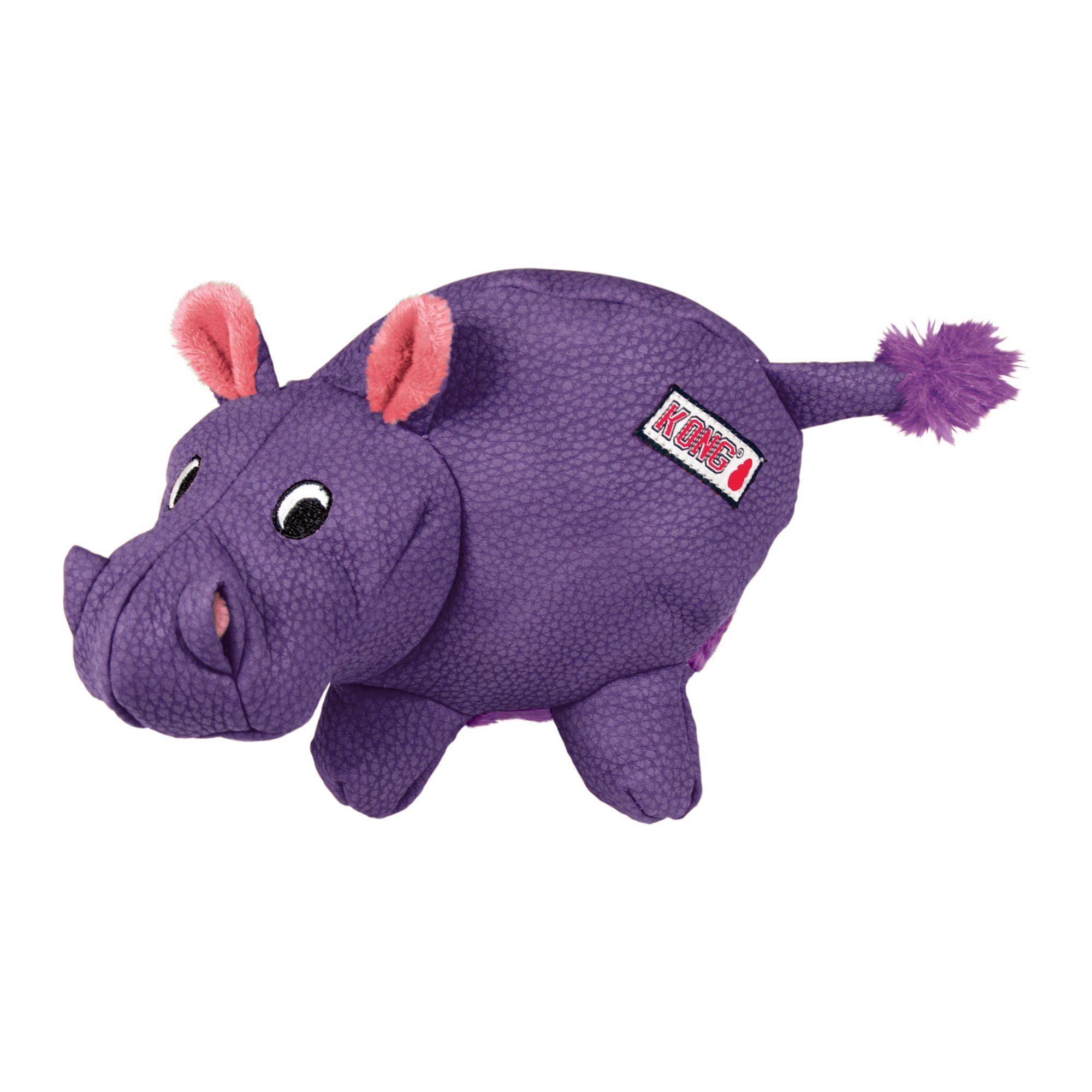 Kong Phatz Hippo Medium Purple Dog Toys Toy Puppies Smart