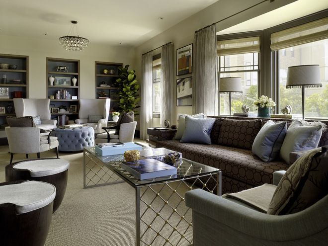 Awesome Long Sitting Room Ideas Part - 13: Contemporary Living Room By Jeffers Design Group Long Narrow Living Room