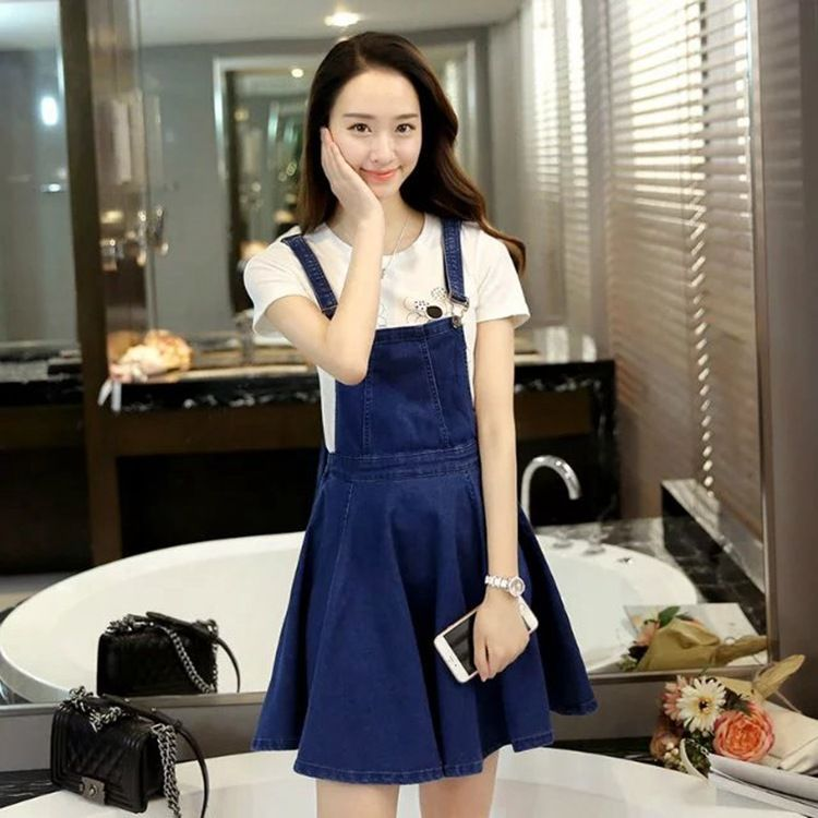 Pinafore Denim Dress