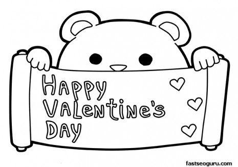 """Dibujos para colorear de """"Happy Valentine´s Day"""". San Valentin ..."""