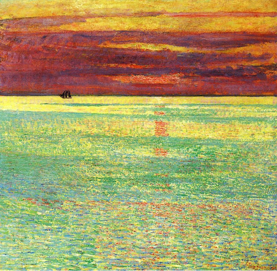 Frederick-Childe-Hassam-xx-Sunset-at-Sea