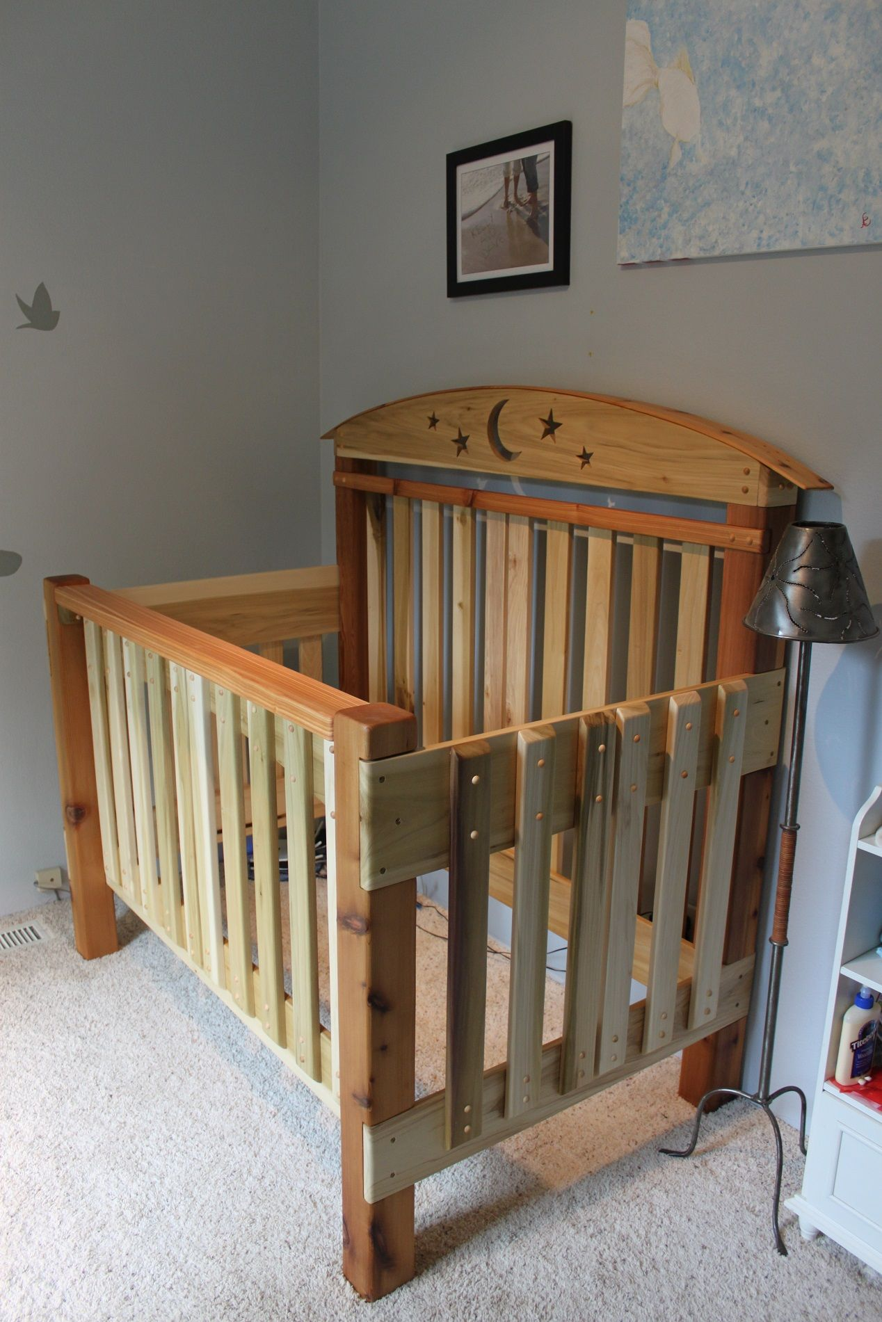 Crib Build Made Completely Of Cedar And Poplar Rustic Baby