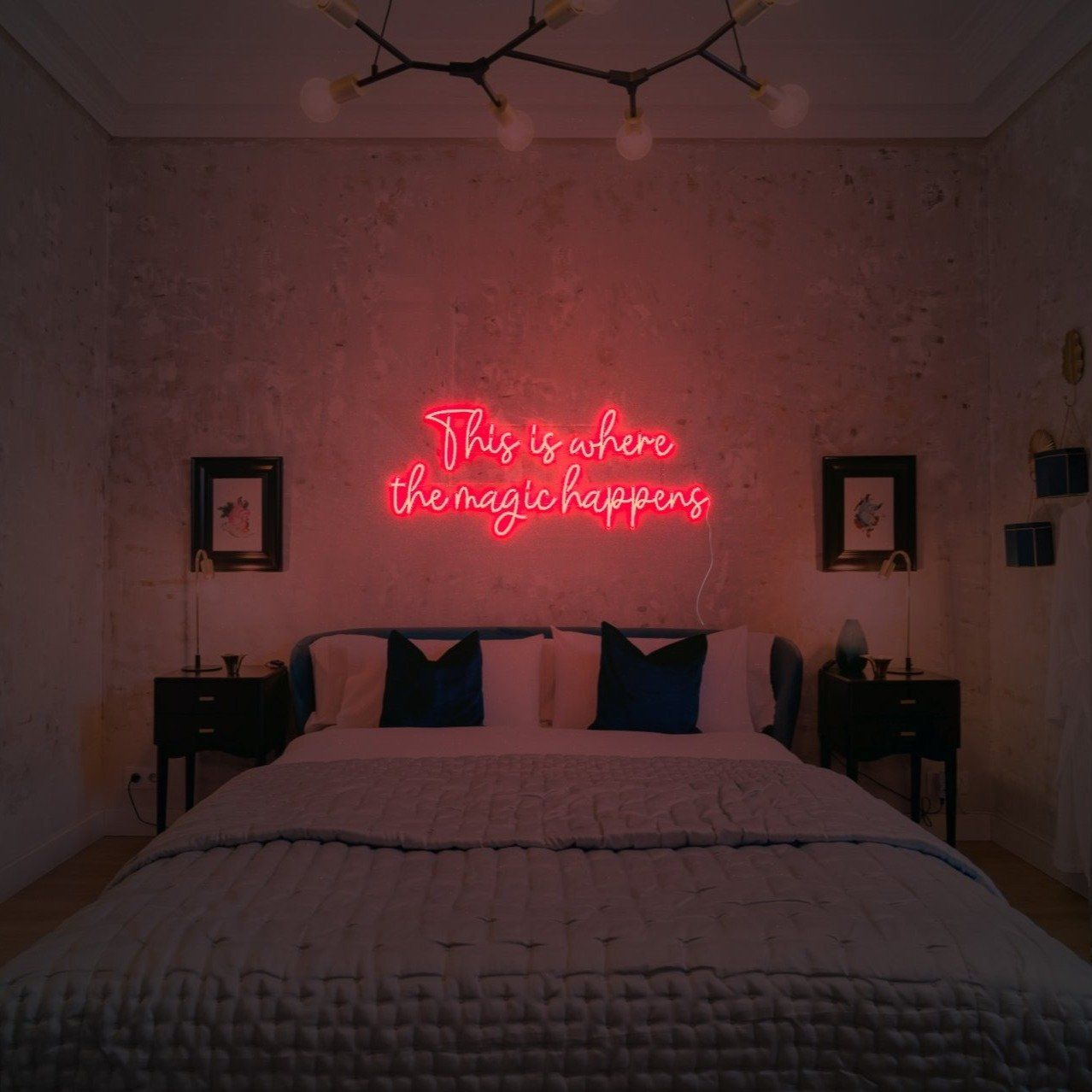 This Is Where The Magic Happens Led Neon Sign Neon Sign Bedroom Red Lights Bedroom Room Ideas Bedroom