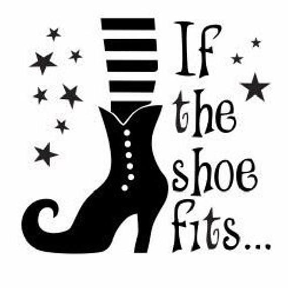 If The Show Fits, Witches Shoe Decal: Halloween Decor