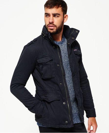 Superdry Rookie Heavy Weather Field Jacket Navy Streetwear Field