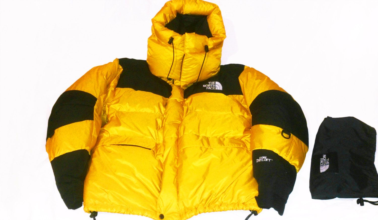 894f580b9f Vintage 90s The North Face Baltoro Himalayan Dryloft Gore-Tex Goose Down 700  Parka Yellow Black Size L by VapeoVintage on Etsy