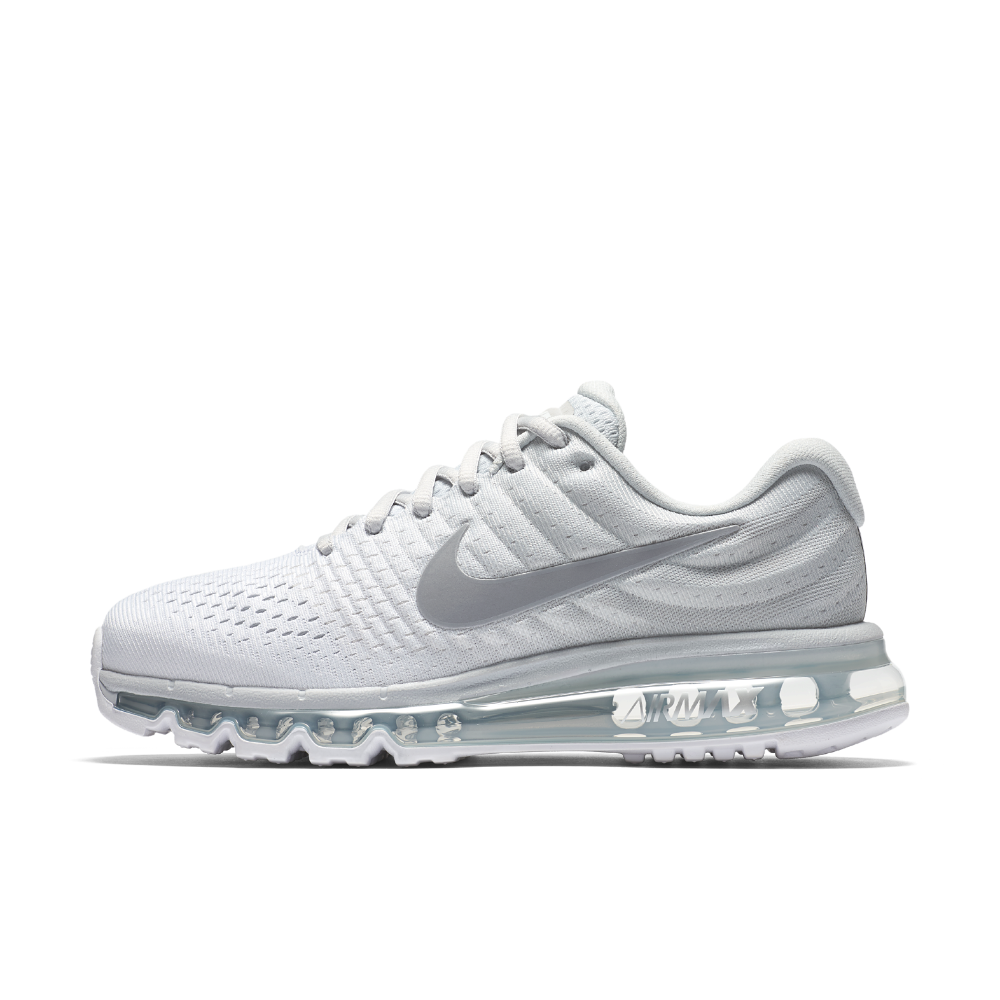 best cheap 944cd ce035 Nike Air Max 2017 Women s Running Shoe Size 11.5 (Silver)