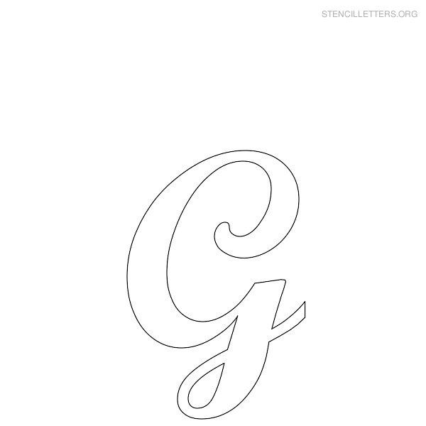 free printable letter stencils free printable alphabet stencils stencil letters g printable free g