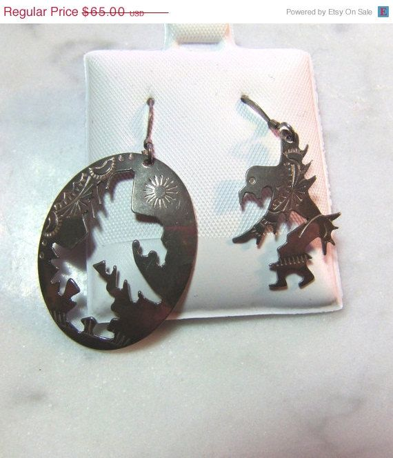 SUMMER BLOW OUT Native American Eagle Dancer Earrings by GTJewelry, $45.50