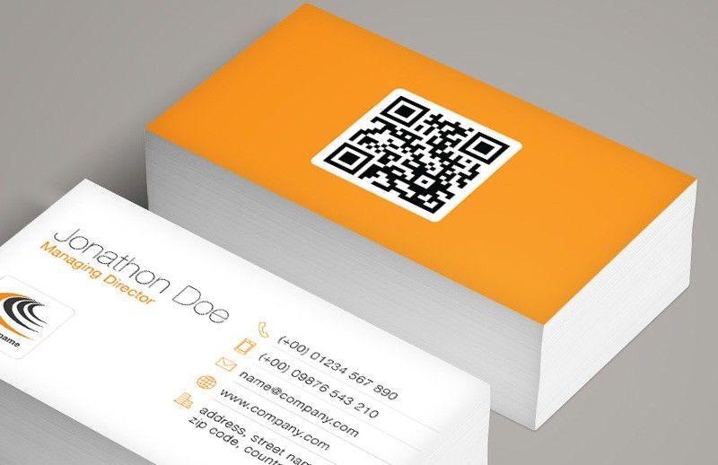 Qr Code Business Card Template Qr Code Business Card Business Card Design Minimal Free Business Card Templates