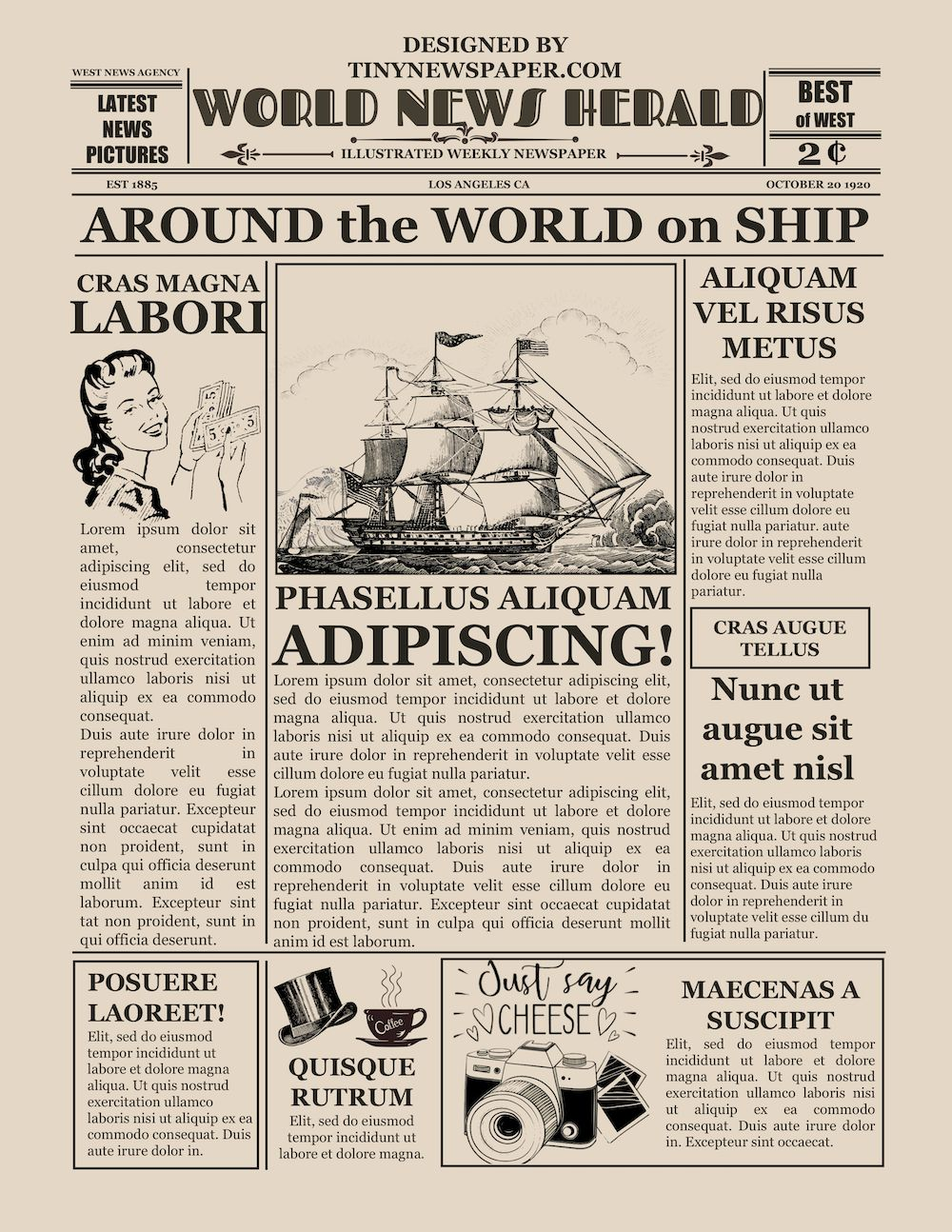 Powerpoint Newspaper Template Intended For Newspaper Template For Powerpoint Professional Templa Newspaper Template Newspaper Template Word Vintage Newspaper