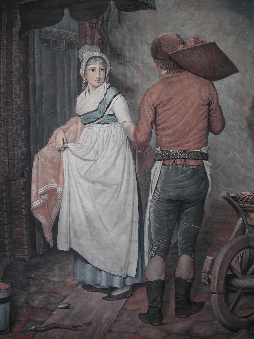 P. M. ALIX ´HAMBURGENSIE, DER SCHLACHTER-GESELLE´ AQUATINTA NACH LESPINAY ~1800 | eBay