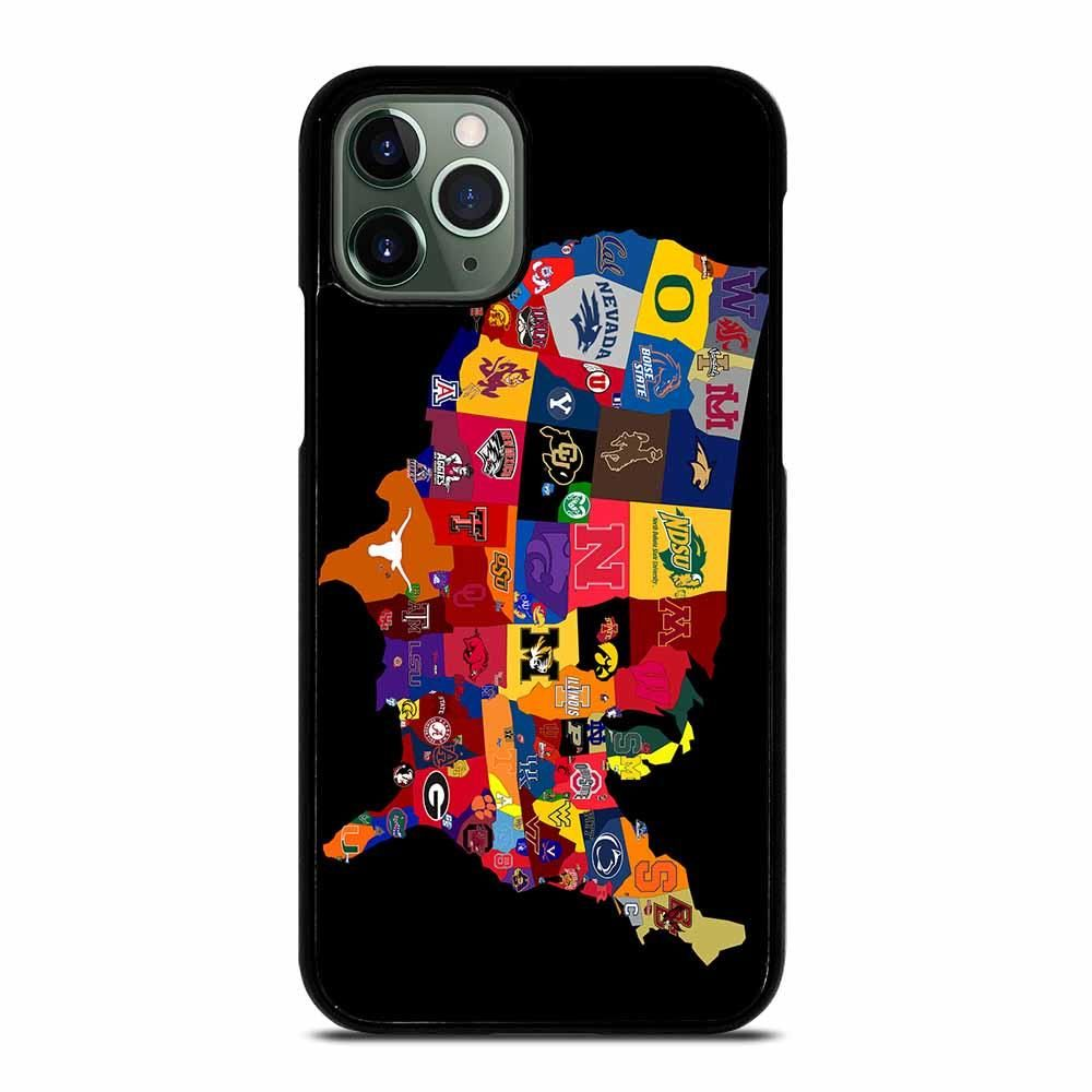College football map iphone 11 pro max case
