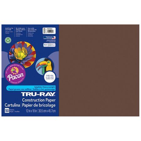 Standard Assorted 5 Packs Pacon Tru-Ray Construction Paper 50 Sheets Per Pack 9 x 12