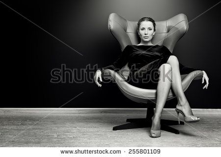 Cool Black And White Portrait Of A Stunning Fashionable Model Caraccident5 Cool Chair Designs And Ideas Caraccident5Info