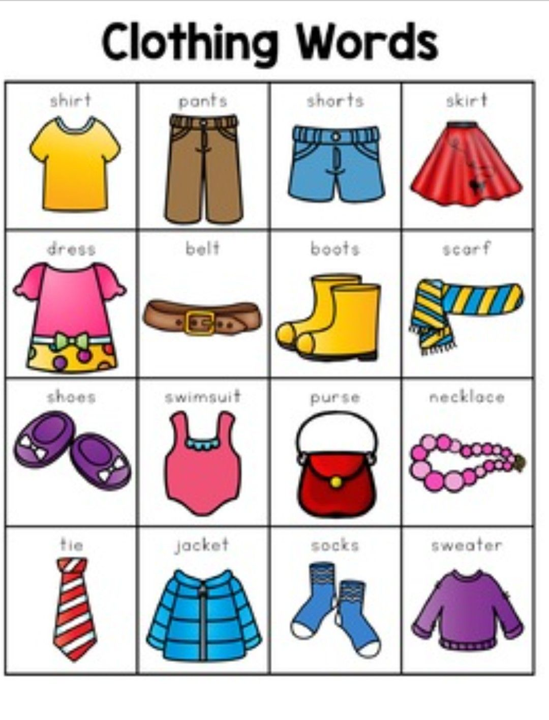 Clothing Words Labels Printable Homeschool Virtual Learning Resources For Parents And Kids Learning English For Kids Flashcards For Kids Clothing Themes [ 1415 x 1080 Pixel ]