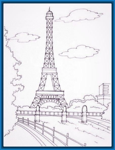 Imagen Relacionada Dibujos De Paris Pintura De Torre Eiffel Dibujos De Francia