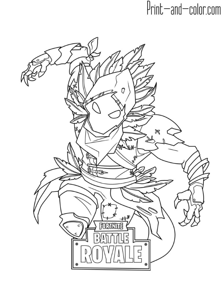 Fortnite Coloring Pages Print And Color Binder Art Throughout