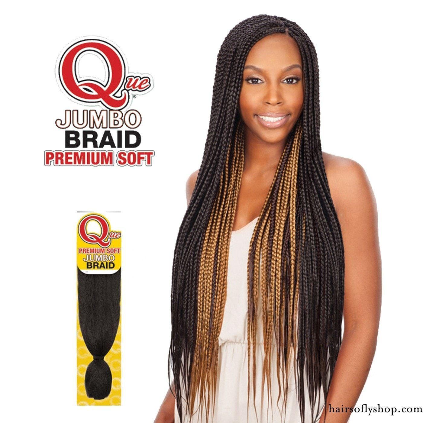 Que Kanekalon Premium Soft Jumbo Braid Box Braids Hairstyles