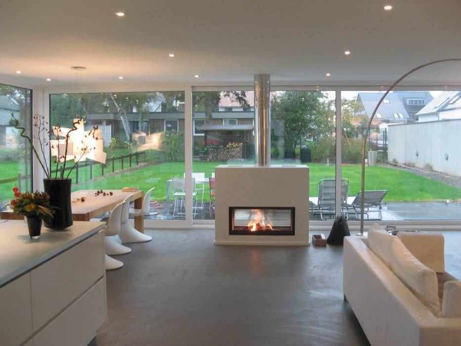 Wohnideen, Interior Design, Einrichtungsideen \ Bilder moderne - offene feuerstelle wohnzimmer