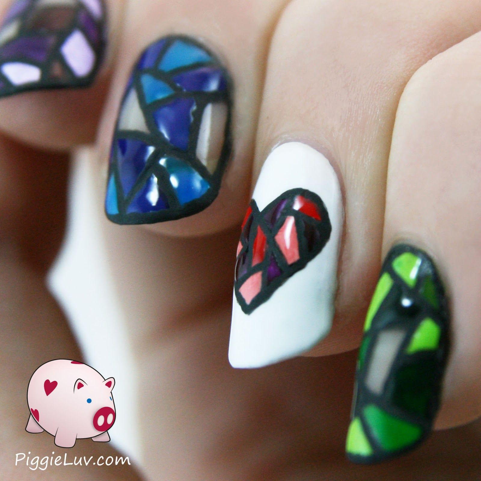 Stained glass twin nails!