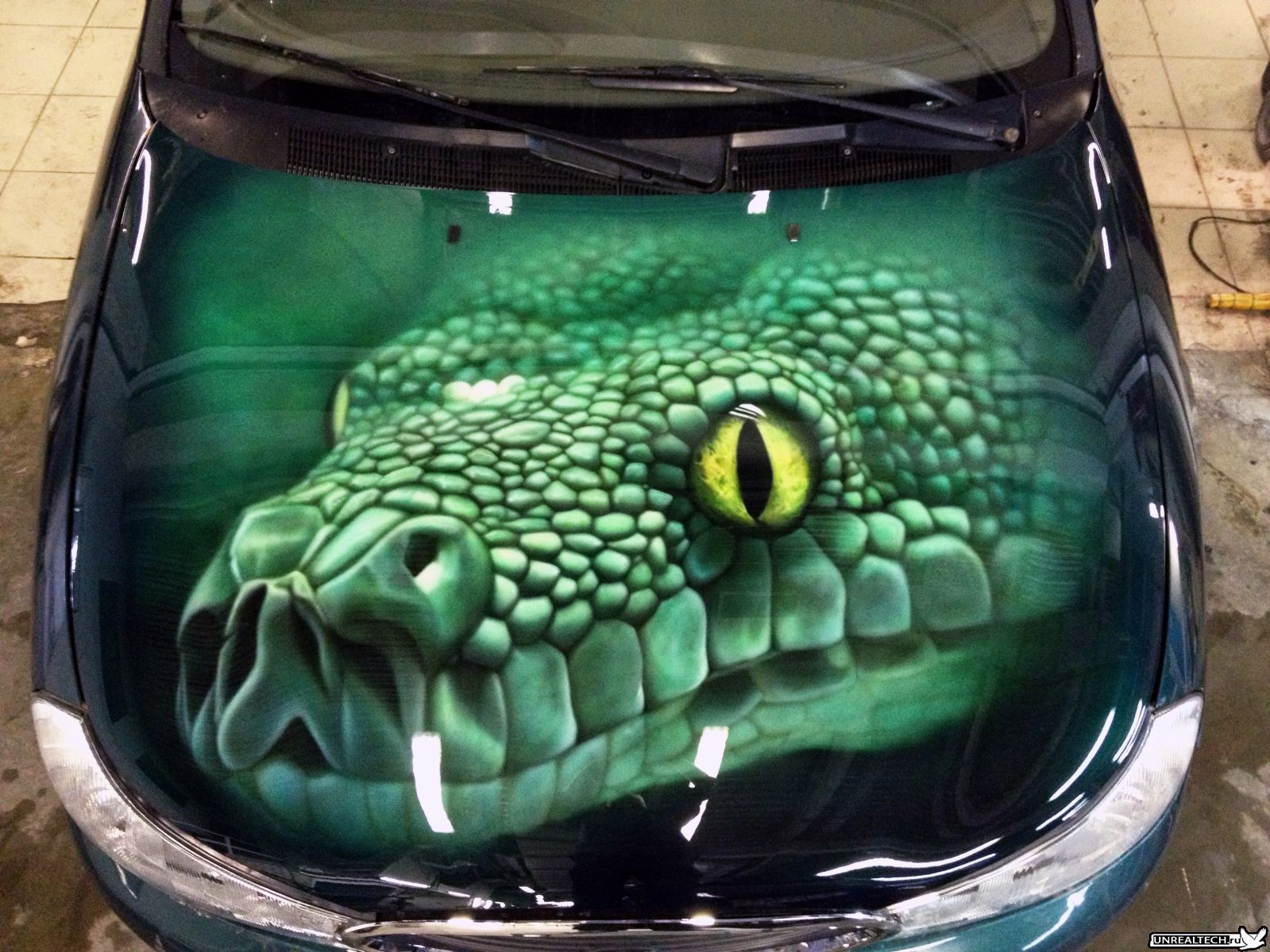 Airbrushing on cars with their own hands 54