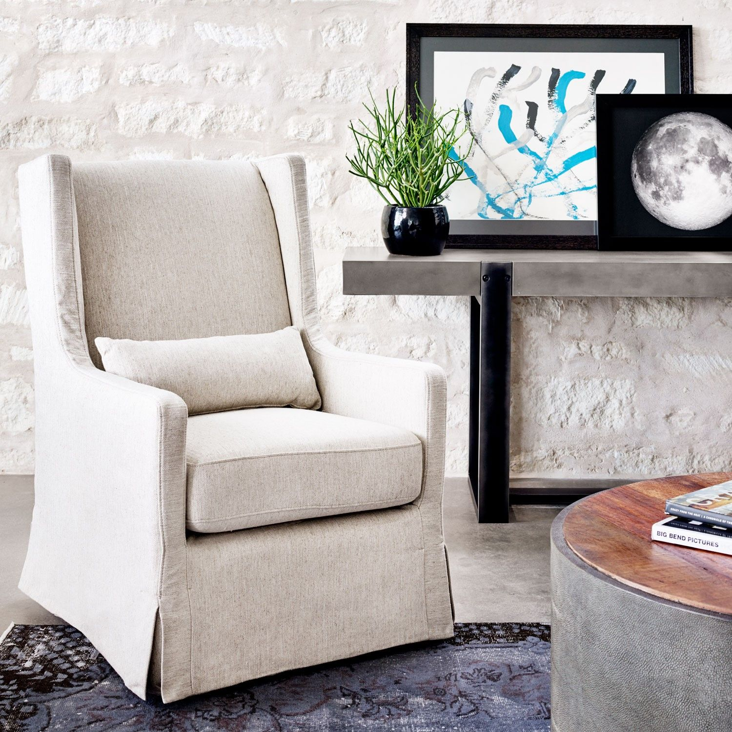 Alistair Strasbourg Swivel Chair Wing Chair Industrial Chic Living Room Upholstered Swivel Chairs [ 1500 x 1500 Pixel ]