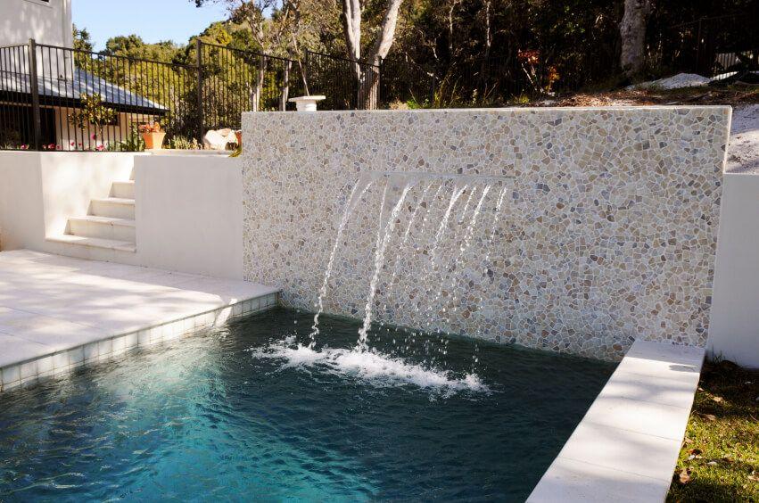 Swimming Pool Fountain Ideas 19 swimming pool ideas for a small backyard 80 Fabulous Swimming Pools With Waterfalls Pictures Swimming Pool Fountain Ideas