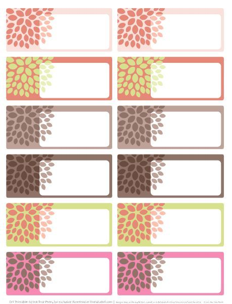 Great printable labels! Weu0027ll use them to label their drawers - address label template