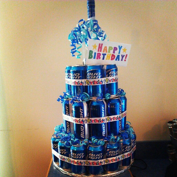 Beer Cake I Made My Fiance A Birthday Cake Out Of Bud Light