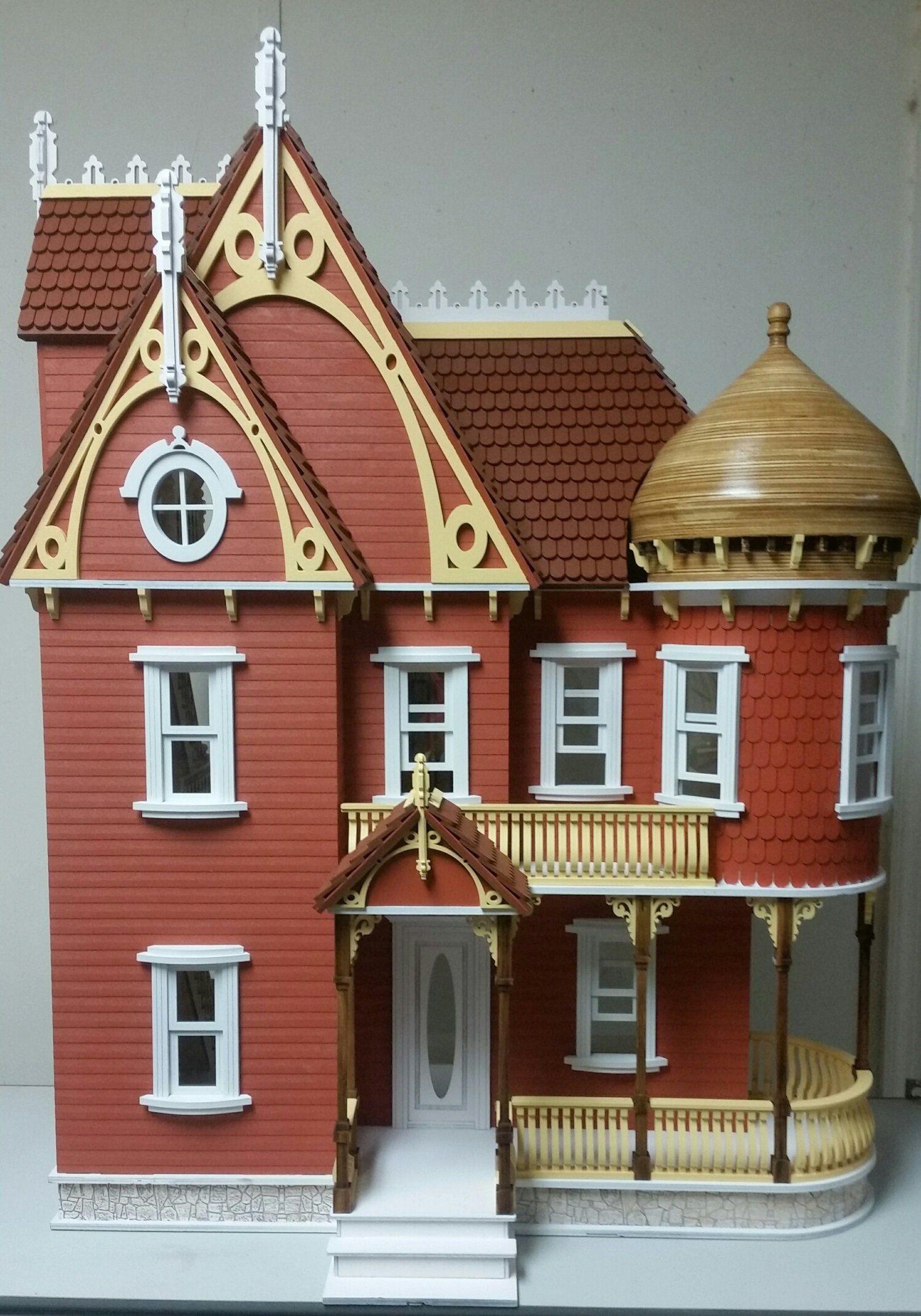 Victorian miniature houses - Hannah Victorian Mansion Dollhouse 1 12 Scale Victorian Toyshouse Styles Mini