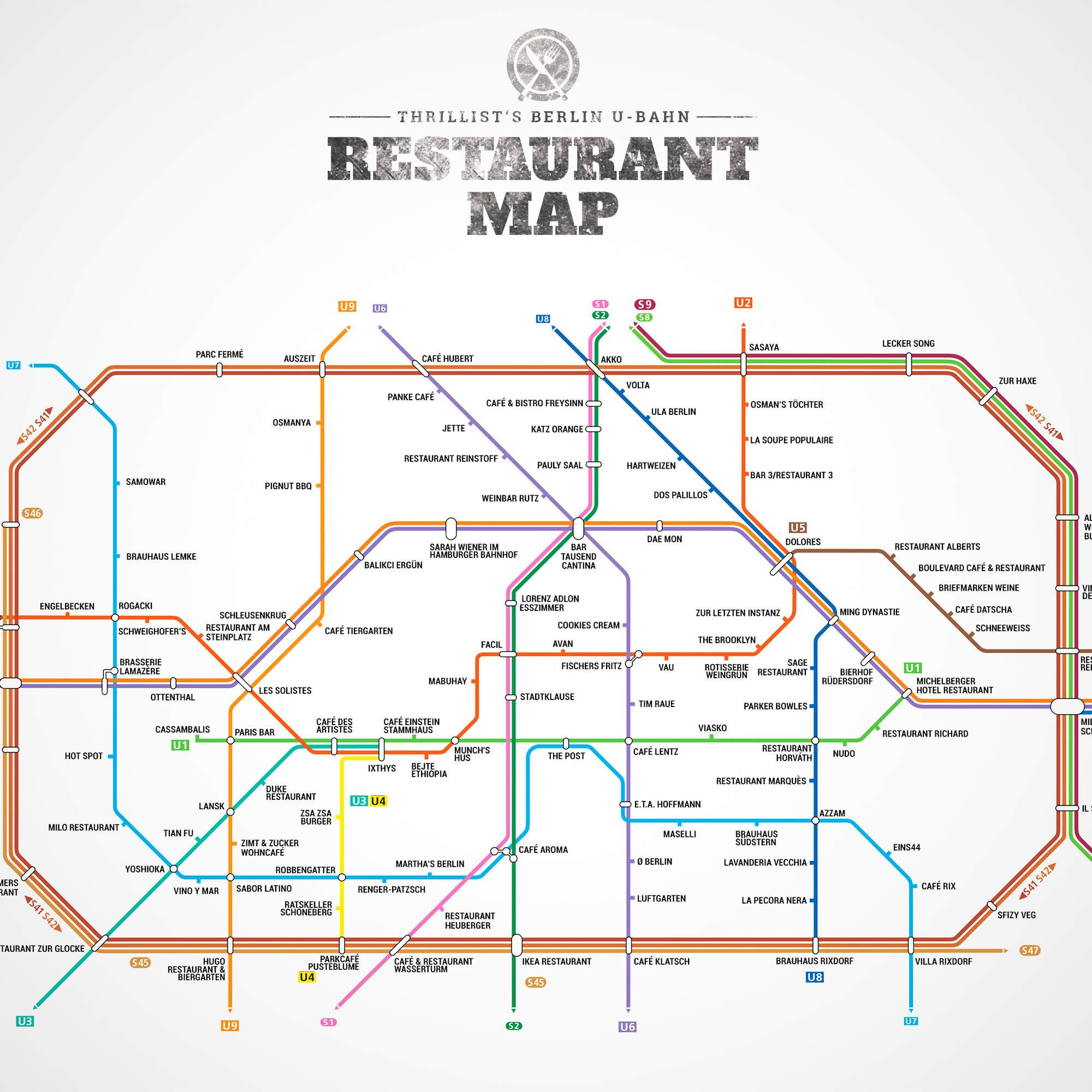 Berlin s First Ever U Bahn Restaurant Map
