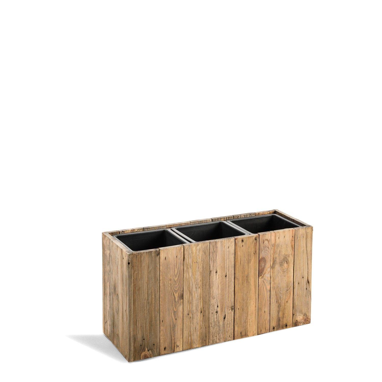 pflanzkuebel blument pfe pflanzkasten woodline box dark flame wood rechteckig holz f474 beim. Black Bedroom Furniture Sets. Home Design Ideas